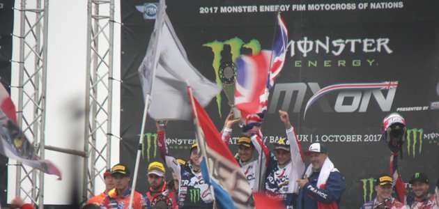 Le succès de l'Equipe de France au Motocross des Nations 2017